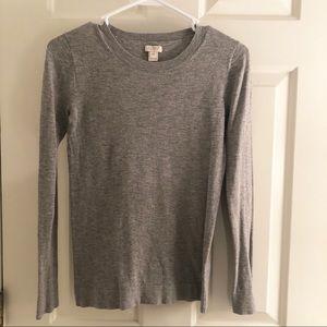 Gray J. Crew sweater